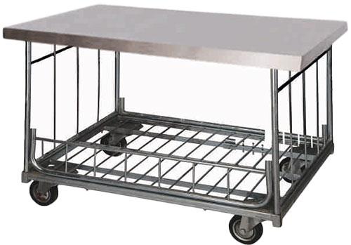 Trolleys, Tables & Laundry Scrub Station.