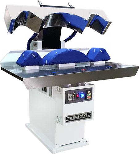 Laundry Cuff & Collar Press. Pneumatically Operated. Steam Heated.