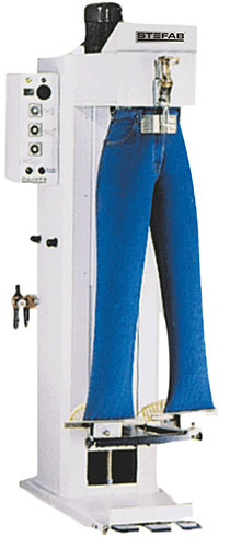 Trouser Form Finisher. Pneumatically Operated. Steam Heated.